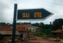 Olila Quarters road in Owan East LGA in Edo State nominated by Honourable Pally Iriase for three consecutive years