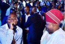 Senator Ademola Adeleke was at Club Ozon with his nephew Davido