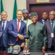 Vice President Yemi Osinbajo received a delegation from Royal Friesland Campina led by its Global CEO, Mr. Hein Schumacher