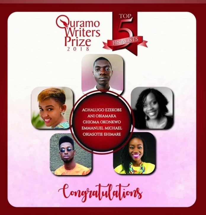 Quramo Writers' Prize 2018 Top 5 unveiled