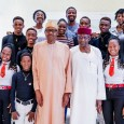 President Muhammadu Buhari hosted Xplicit Dancers to breakfast at the State House