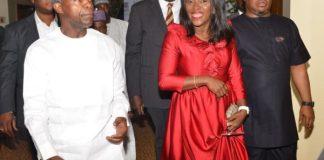 Vice President Yemi Osinbajo and book author Funmilayo Braithwaite