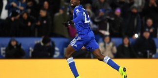 Wilfred Ndidi score a late goal to ensure Leicester draw West Ham at the King Power Stadium