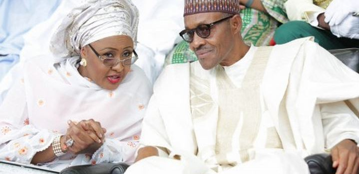 Aisha Buhari and her husband President Muhammadu Buhari have been impersonated by three persons