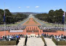 Crowds turned out for the centenary of the Armistice across the world and in Canberra, Australia