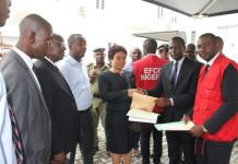 EFCC presenting documents of forefeited properties to First Bank of Nigeria