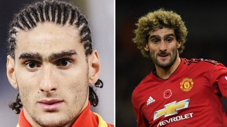 Fellaini has played with his hairdo in the past