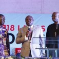Governor Akinwunmi Ambode of Lagos flanked by Ifeanyi Odedo and Boss Mustapha at the Lagos Convention of the Full Gospel Business Men Fellowship