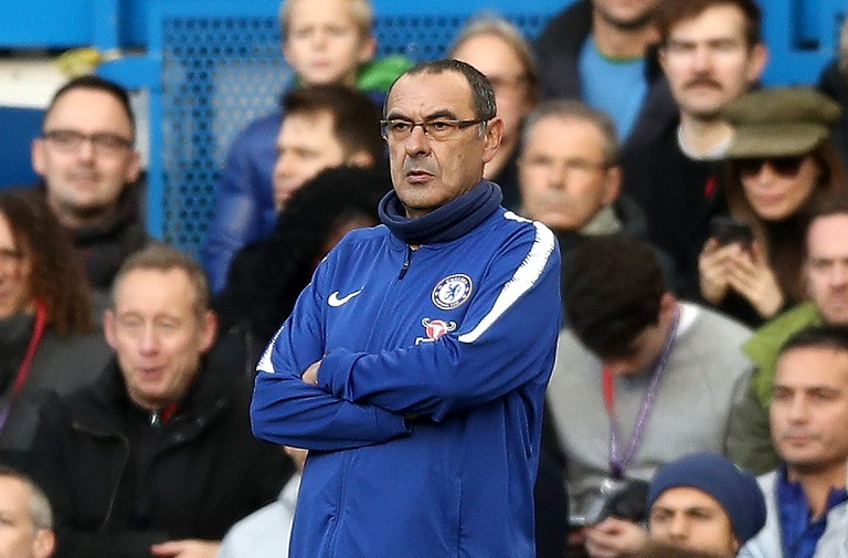 Maurizio Sarri's Chelsea failed to beat Everton at Stamford Bridge