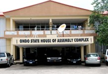 Ondo State Assembly impeached Speaker Bamidele Oloyelogun and deputy Ogundeji Iroji on Friday