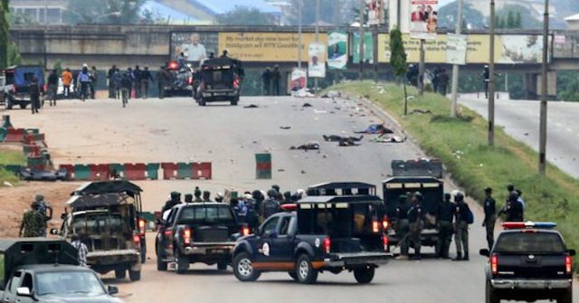 Police barricade Anambra State House of Assembly following an attempt to impeach Speaker, Mrs Rita Nmaduagwu
