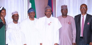 President Muhammadu Buhari met with a delegation from LADOL led by its chairman Mr Oladipo Jadesimi