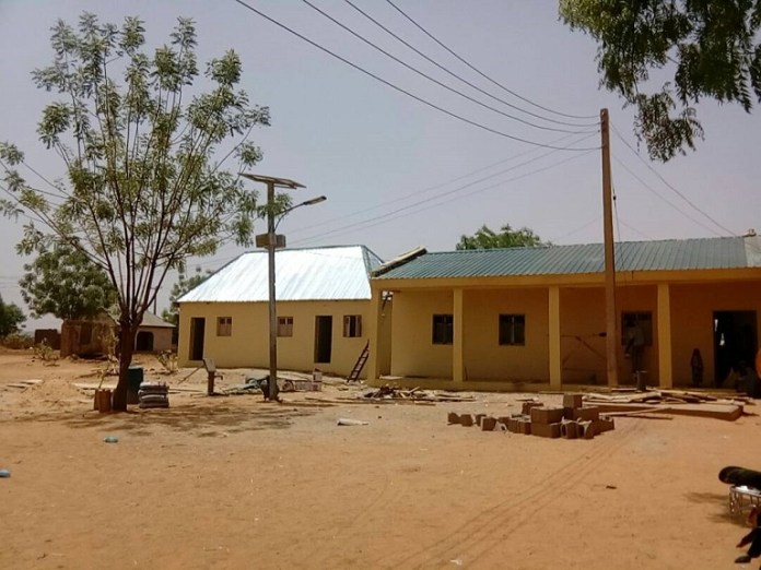 The ongoing renovation of Kaffe Public Health Centre in Sokoto