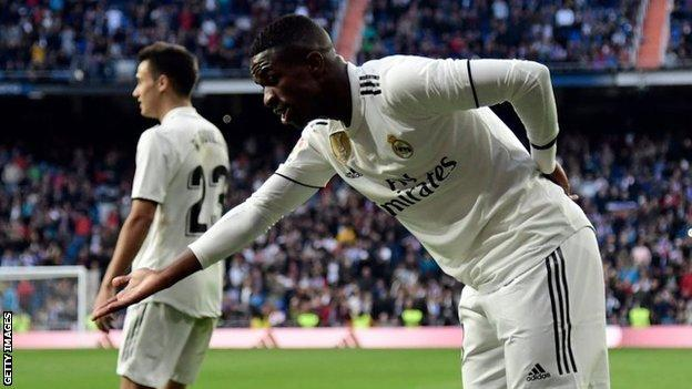 Vinicius Jr scored four goals in five games for Real B team under Solari this season