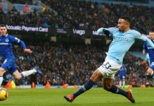 Gabriel Jesus had gone 487 minutes without a Premier League goal before Everton clash