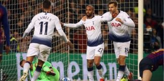 Lucas Moura scored a very important late goal to secure Tottenham's qualification to the knockout phase in the Champions League