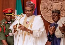 President Muhammadu Buhari presented with a birthday gift