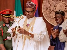 President Muhammadu Buhari presented with a birthday gift