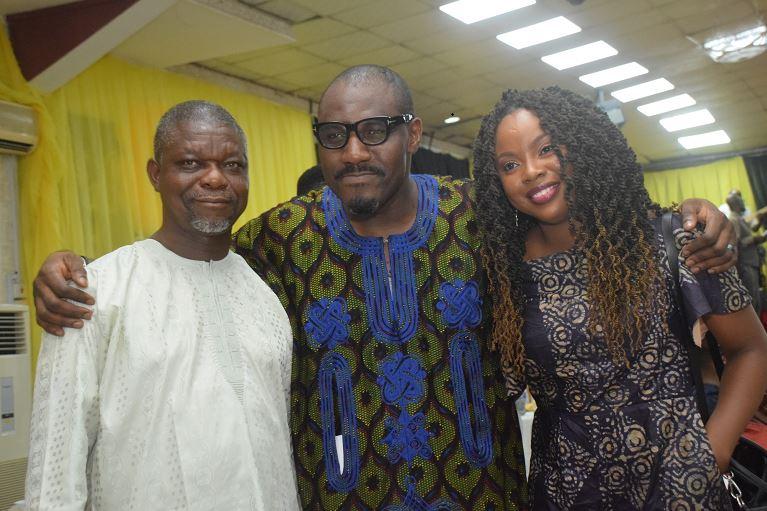 Toni Kan with Toyin Akinosho and writer, Ayobami Adebayo
