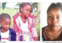 Two Lagos school childen kidnapped by a nanny have been found