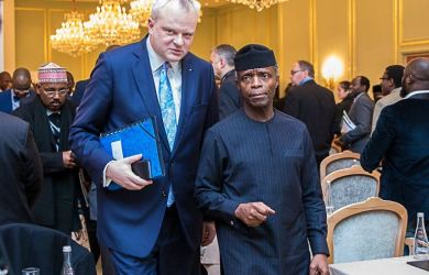 Vice President Osinbajo with Dr. Stefan Liebing, Chairman of German-African Business Association
