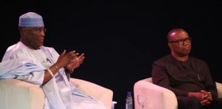 Atiku Abubakar and Peter Obi at The Candidate on Wednesday