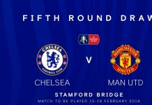 Chelsea vs Manchester United at Stamford Bridge in the fifth round of the FA Cup