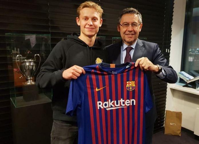 Frenkie de Jong has joined Barcelona from Ajax for 86million euros