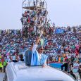President Muhammadu Buhari was dazed by the mammoth crowd that received him in Kaduna