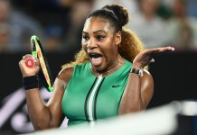 Serena Williams beat Bouchard in straight sets 6-2, 6-2
