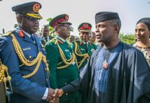 FILE: Vice President Yemi Osinbajo attends 2018 Armed Forces Remembrance Day