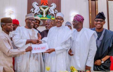 President Muhammadu Buhari with Nigerian governors