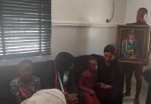 VP with the family of late Major Solomon Kabiru Umaru in Kurudu, FCT on Wednesday
