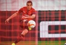 Algerian full-back Mehdi Zeffane was instrumental in Rennes second goal against Arsenal