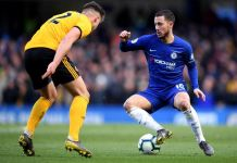 Eden Hazard scored a late goal as Chelsea came from behind to manage a point