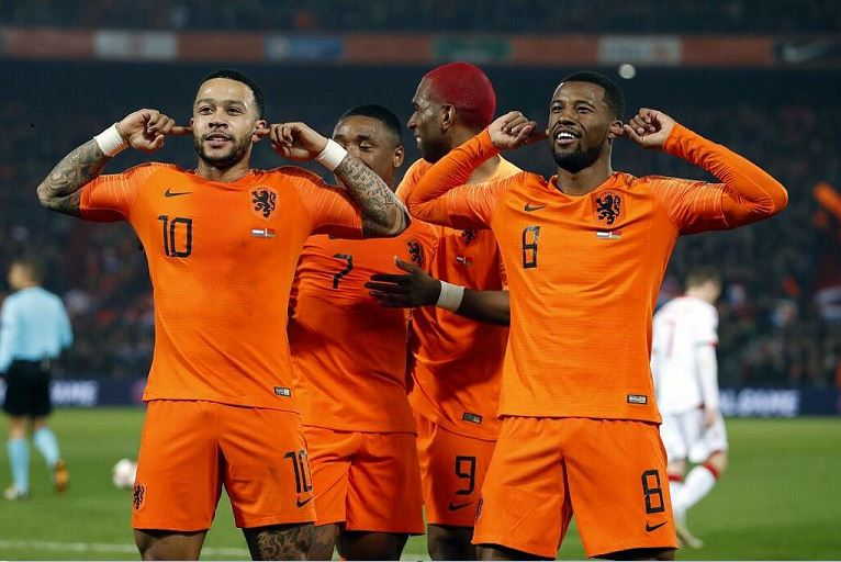 Memphis Depay scored twice as Netherlands won their Euro 2020 qualifier 4-0