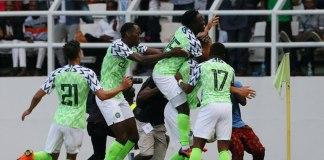 Moses Simon scored a late goal as Nigeria beat Seychelles 3-1