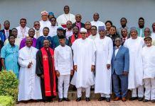 President Muhammadu Buhari and Vice President Yemi Osinbajo hosted the Christian Association of Nigeria, CAN, in Abuja