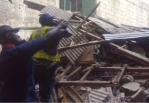 The building that was demolished at Egerton, Oke Arin Square, Lagos Island