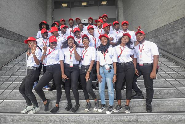 United Bank for Africa (UBA) 2019 Campus Ambassadors during their Unveiling at the UBA Group Office in Lagos at the Weekend