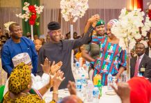 Vice President Yemi Osinbajo and his wife, Dolapo Osinbajo