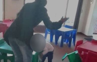 A creche teacher beating a child in South Africa went viral