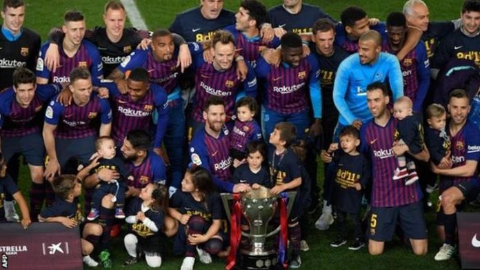 Lionel Messi has won his 10th La Liga title with Barcelona