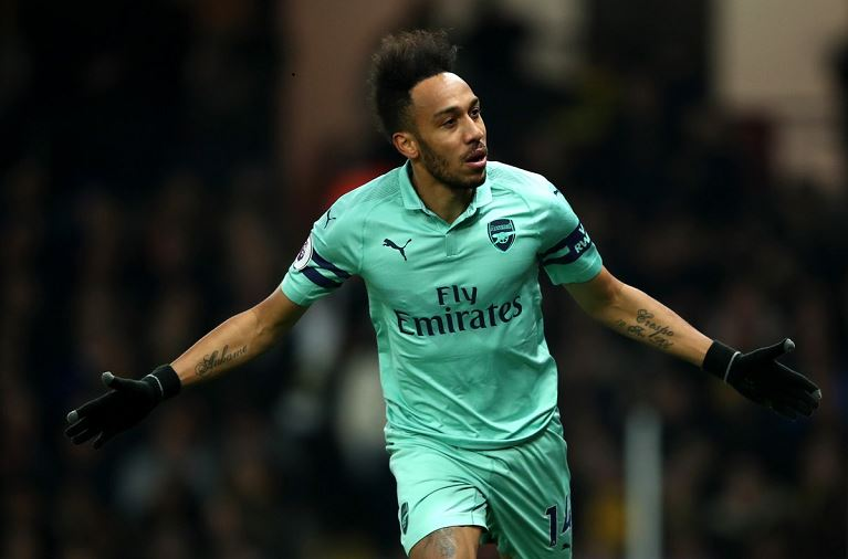 Pierre Emerick-Aubameyang scored the only goal as Arsenal beat Watford