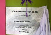 President Buhari commissioned Yemi Osinbajo Primary School in Maiduguri, Borno State on 25 April 2019