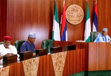 President Muhammadu Buhari presided over FEC on 17 April 2019