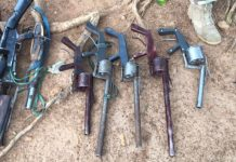 Some of the arms recovered from the manufacturers in Benue