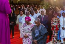Vice President Yemi Osinbajo attends the Service of Thanksgiving for Gods Great Mercies in Abuja