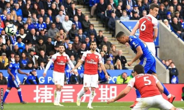 Youri Tielemans netted his fourth goal for Leciester since his loan move from Monaco in January