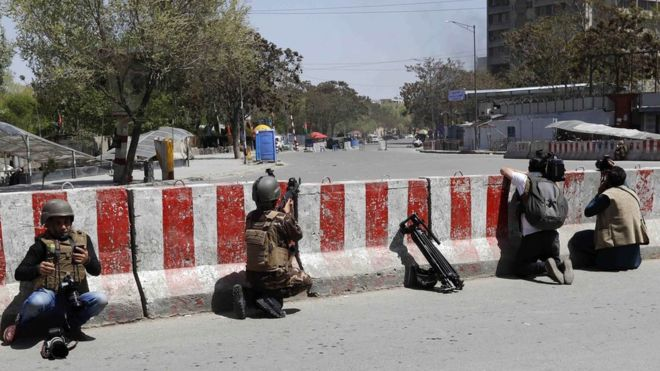 The attack happened in a busy area of central Kabul